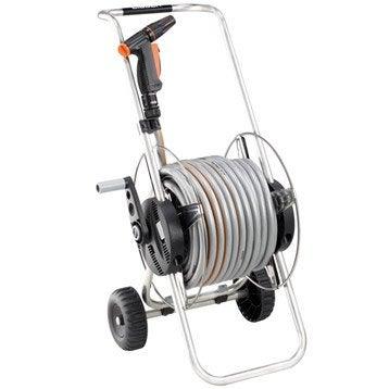 Dévidoir sur roues, équipé L.30 m CLABER Métal compact 30
