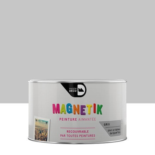 peinture magn tique gris maison deco magn tik c 39 est g nial 0 2 l leroy merlin. Black Bedroom Furniture Sets. Home Design Ideas