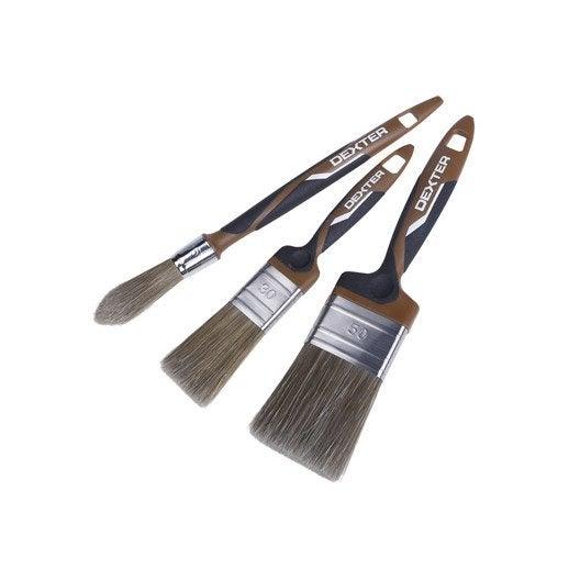 Lot de pinceaux pour lasure huile et saturateur meuble porte ou volet dext - Huile pour porte qui grince ...