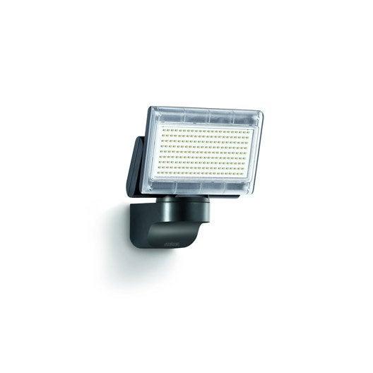 projecteur fixer ext rieur led int gr e 14 8 w 1020 lm noir steinel leroy merlin. Black Bedroom Furniture Sets. Home Design Ideas