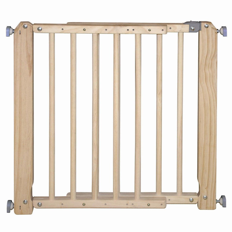 barrière de sécurité amovible bois, réglable de 70 à 103 cm   leroy