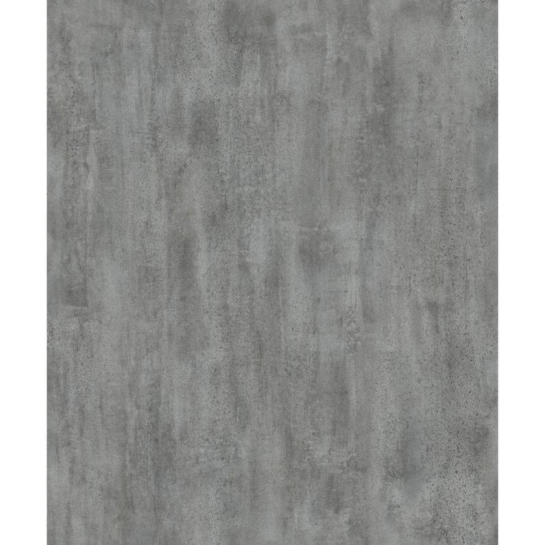 Papier Peint Intisse Uni Beton Lave Gris Fonce Leroy Merlin
