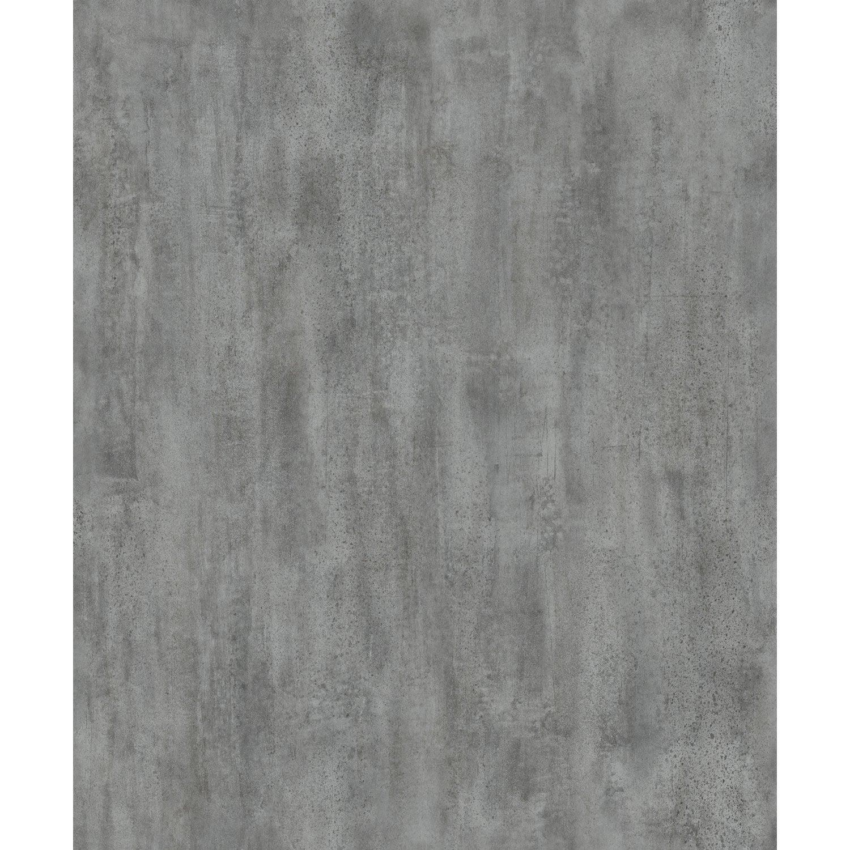 Papier peint intissé Uni béton lavé gris foncé | Leroy Merlin