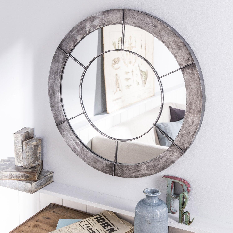 Miroir Acier, acier, l.67 x H.67 cm