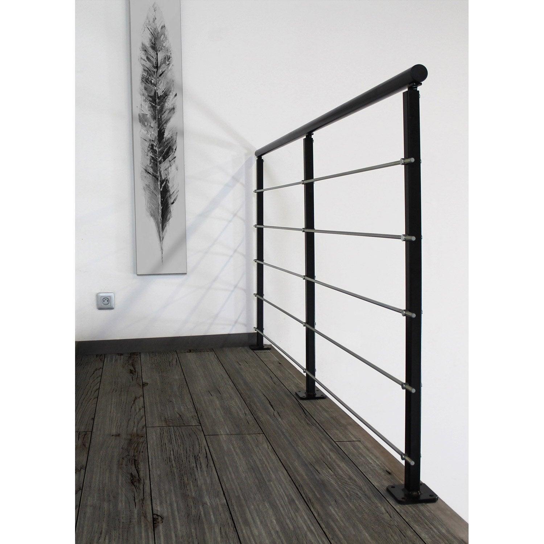 Peinture Escalier Noir Mat kit garde corps vario noir laqué 2m