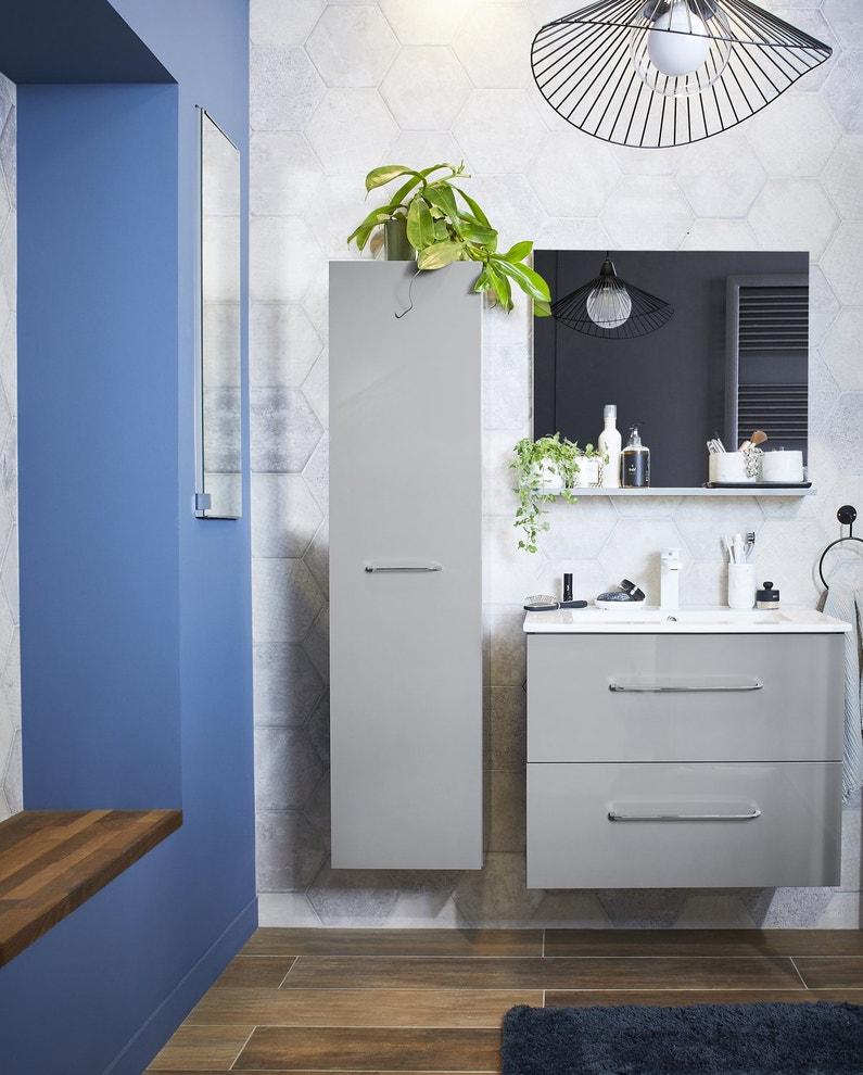 un bi couleurs pour la salle de bains leroy merlin. Black Bedroom Furniture Sets. Home Design Ideas