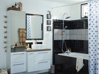 comment choisir son rideau de douche leroy merlin. Black Bedroom Furniture Sets. Home Design Ideas