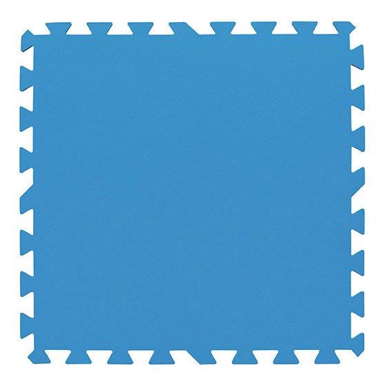 Lot De 9 Tapis De Protection Bleu Pour Piscine