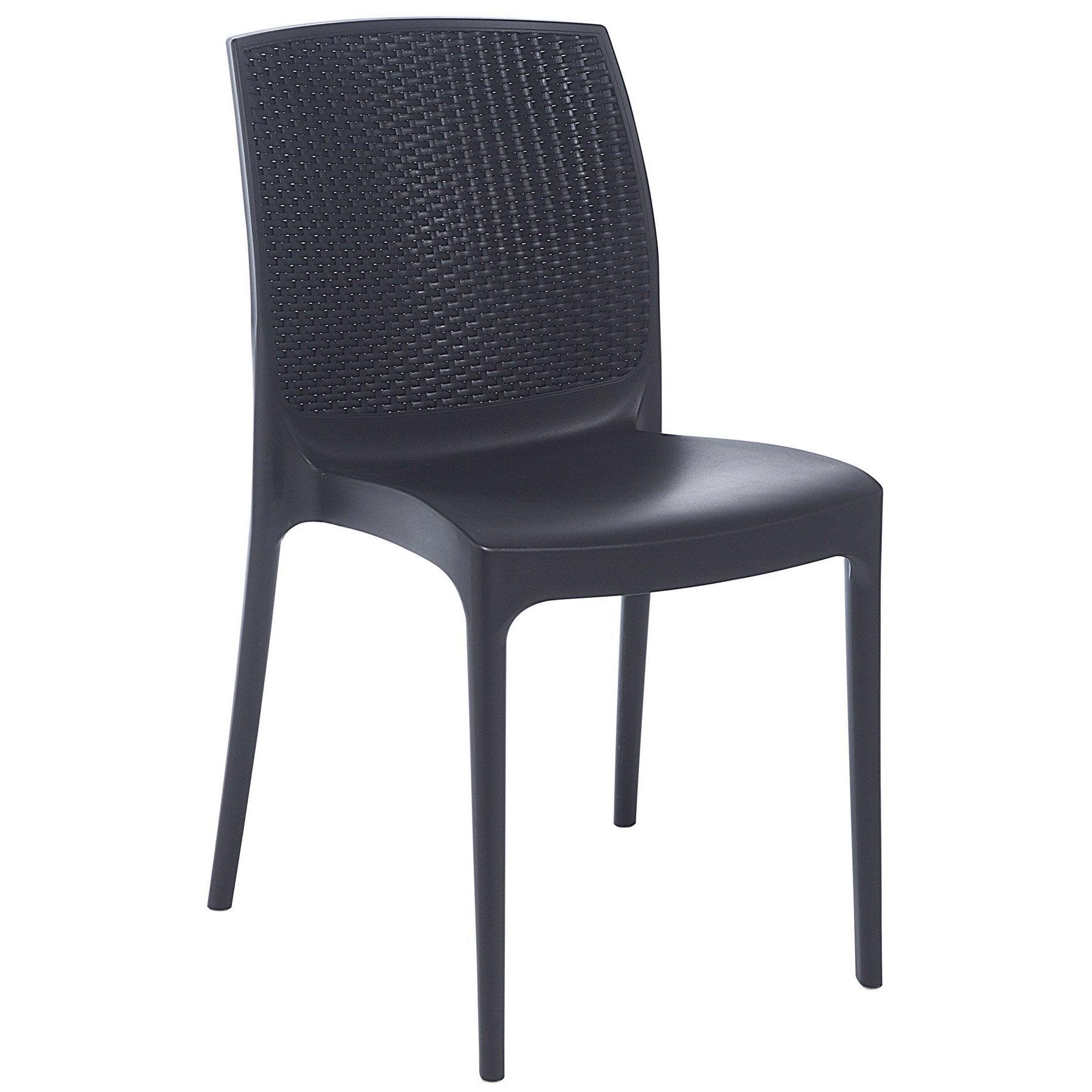 chaise de cuisine en résine tressée