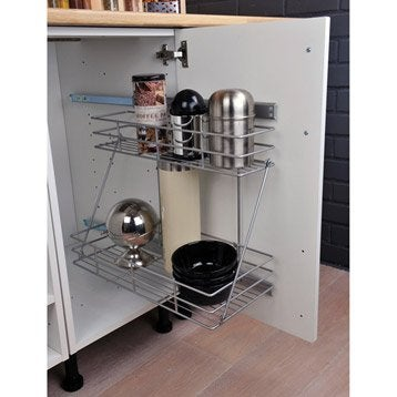 2 paniers lat raux coulissants delinia - Amenagement interieur meuble cuisine leroy merlin ...