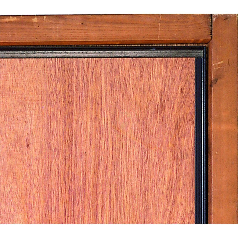 Cornière Antipince Pour Porte AFBAT Brun Leroy Merlin - Barre anti effraction porte