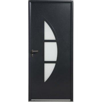 Porte d'entrée aluminium Omaha ARTENS poussant gauche, H.215 x l.90 cm