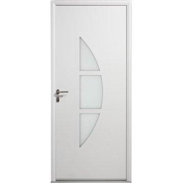 Porte d'entrée aluminium Omaha ARTENS poussant gauche, H.215 x l.80 cm