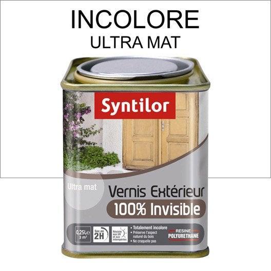 Vernis syntilor l incolore leroy merlin for Lasure ou vernis bois exterieur