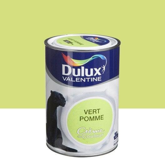 Peinture vert pomme dulux valentine cr me de couleur - Mur vert pomme ...