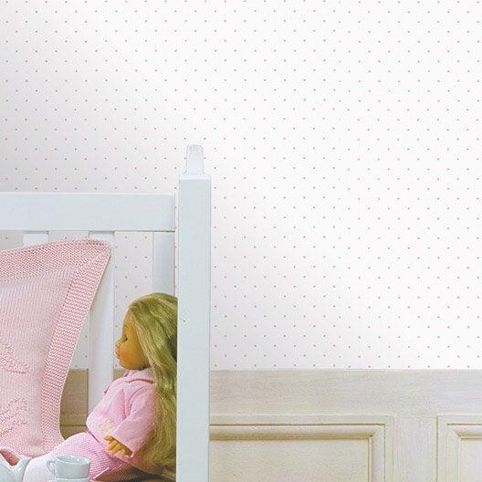 Papier peint papier pois rose leroy merlin - Prix pose papier peint sans fourniture ...