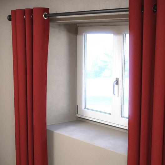 support sans per age tringle rideau ib 25 mm noir mat ib leroy merlin. Black Bedroom Furniture Sets. Home Design Ideas