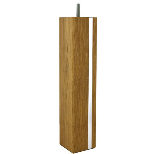Pied de table basse carr fixe ch ne teint brun marron 36 cm leroy merlin - Pied de table basse ikea ...
