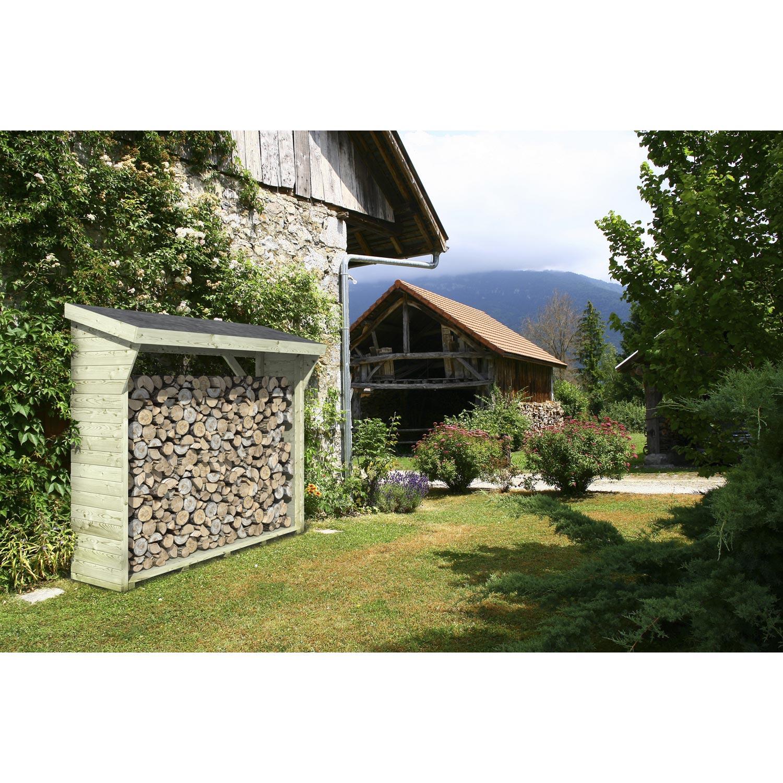 abri de jardin avec bucher leroy merlin Bûcher bois naturelle, l.180 x H.175 x P.73 cm