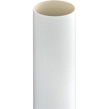 Tuyau de descente PVC blanc Diam.80 mm L.2.8 m GIRPI