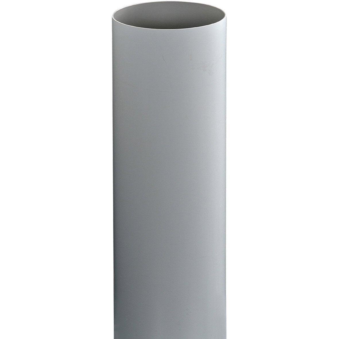 tuyau de descente pvc gris mm l 4 m girpi leroy merlin. Black Bedroom Furniture Sets. Home Design Ideas