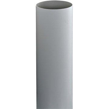Tuyau de descente PVC gris Diam.80 mm L.4 m GIRPI
