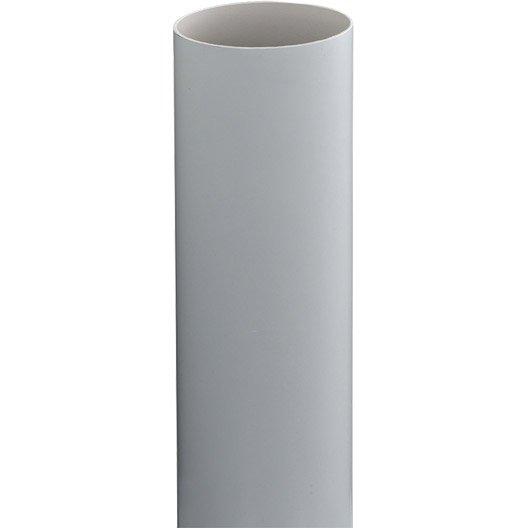 tuyau de descente pvc gris mm l 2 8 m girpi leroy merlin. Black Bedroom Furniture Sets. Home Design Ideas