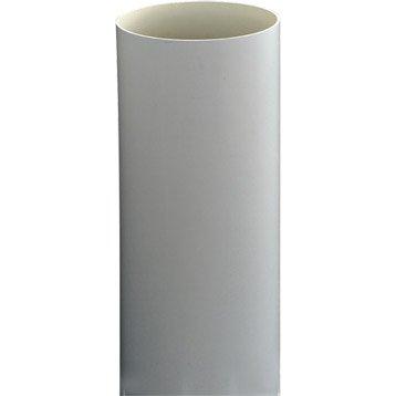 Tuyau de descente PVC gris Diam.100 mm L.4 m GIRPI