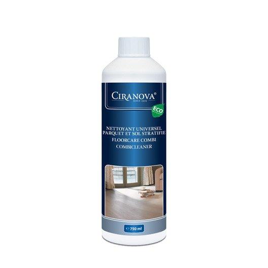 Nettoyant parquet verni, huilé et sol stratifié CIRANOVA 750 ml