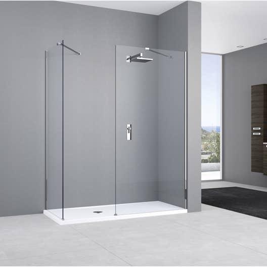 paroi de douche l 39 italienne cm verre transparent 8 mm elisea espace leroy merlin. Black Bedroom Furniture Sets. Home Design Ideas