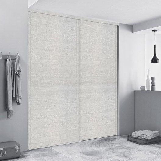 porte de placard coulissante sur mesure spaceo traditionnel de 80 1 100 cm leroy merlin. Black Bedroom Furniture Sets. Home Design Ideas