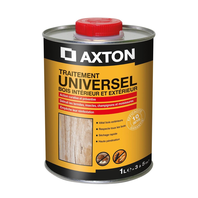 produit traitement bois exterieur Traitement du bois multiusage AXTON 10 ans, 1 l