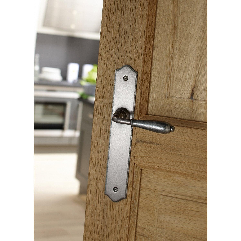 2 poign es de porte nevers sans trou inspire fer 195 mm leroy merlin. Black Bedroom Furniture Sets. Home Design Ideas