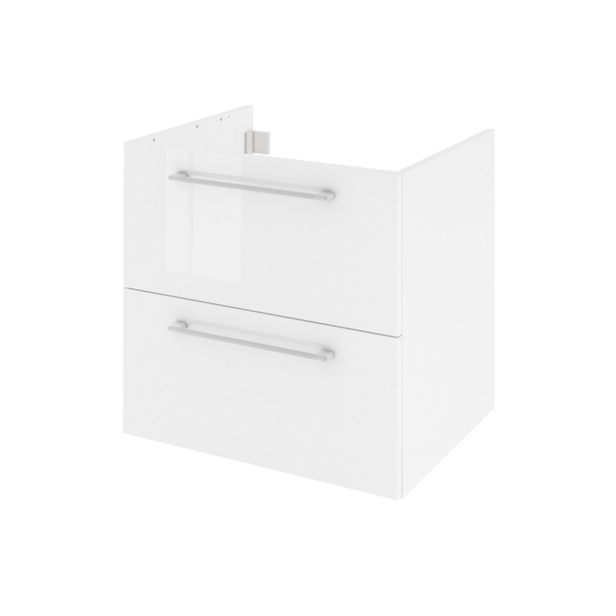 Meuble de salle de bains l.60 x H.58 x P.48 cm, blanc, Remix