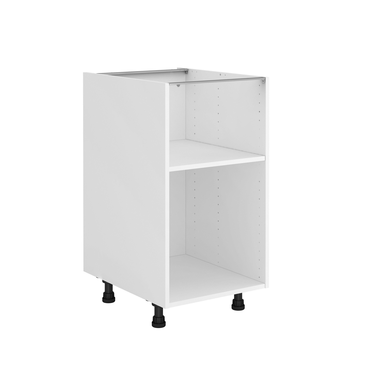 Caisson de cuisine bas DELINIA ID, blanc H.10.10 x l.10 x P.510 cm