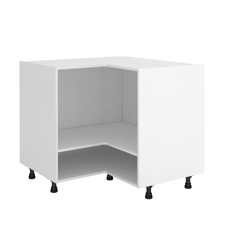 Extraordinaire Caisson de cuisine meuble bas d'angle DELINIA ID, blanc H.76.8 x l BM-19