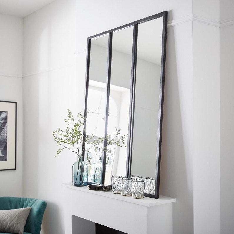 Miroir Atelier Noir L81 X H109 Cm