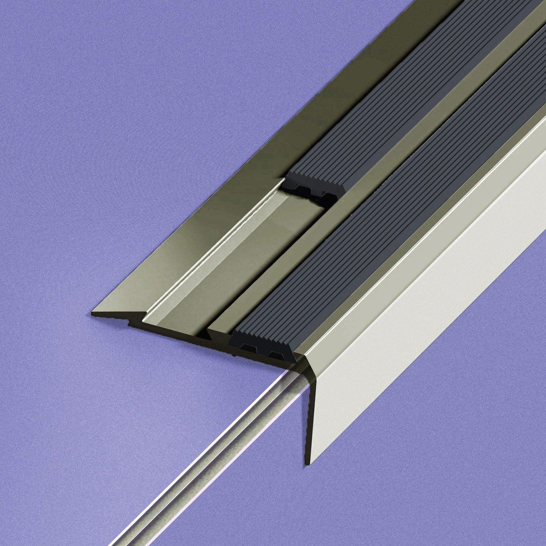 Nez De Marche Aluminium Anodis Gris L 170 X L 4 Cm Leroy Merlin ~ Nez De Marche Antidérapant Escalier Bois