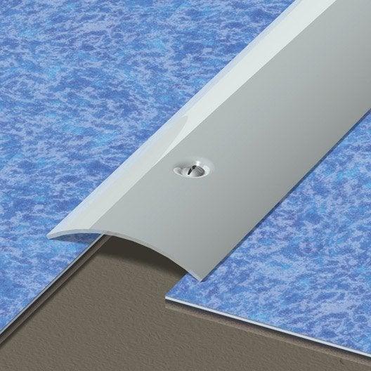 Barre de seuil inox gris L.166 x l.4.5 cm