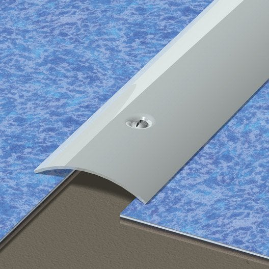 barre de seuil inox gris l.166 x l.4.5 cm   leroy merlin
