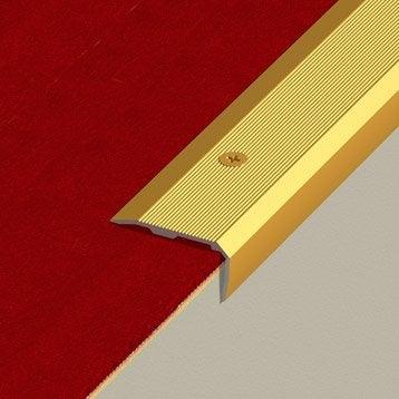 Nez de marche aluminium anodisé doré L.170 x l.3.6 cm