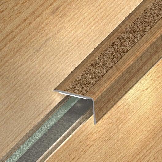 nez de marche aluminium rev tu d co d cor ch ne x l 3 6 cm leroy merlin. Black Bedroom Furniture Sets. Home Design Ideas