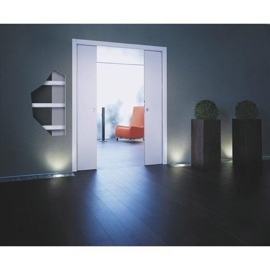 Syst me galandage pr mont eclisse pour porte de 2 x 73 cm leroy merlin - Porte galandage eclisse ...