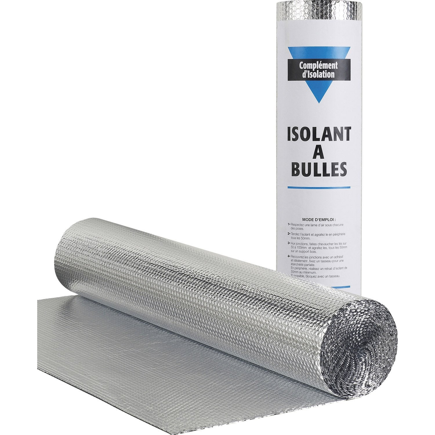 Rouleau isolant mince bulle actis 10 x 1 5 m ep 3 5 for Pose isolant mince sous chevrons
