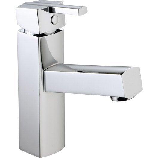 Mitigeur lave mains eau chaude froide chrom sara leroy merlin - Mitigeur lave main ...