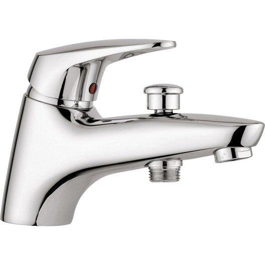 Robinet de baignoire robinet de salle de bains leroy for Robinets muraux salle de bain