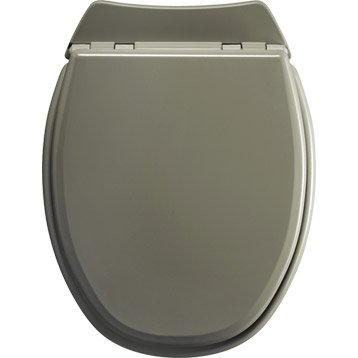 Abattant WC SENSEA Lyrica gris