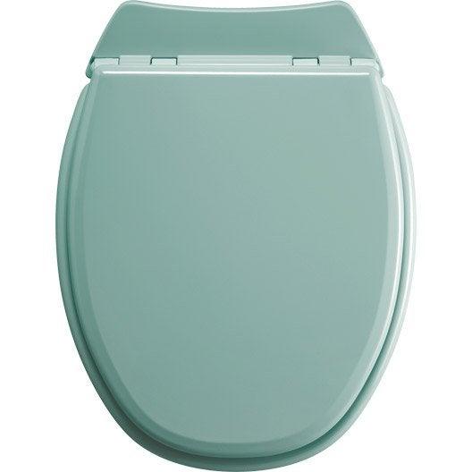 abattant wc sensea lyrica bleu leroy merlin. Black Bedroom Furniture Sets. Home Design Ideas