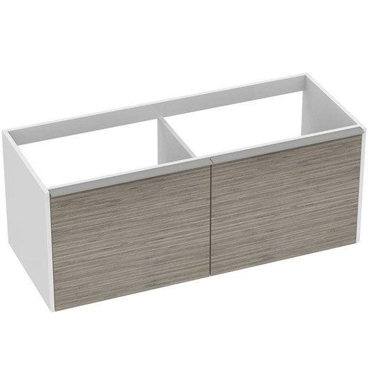 meuble sous vasque x x cm imitation bambou idealsmart leroy merlin. Black Bedroom Furniture Sets. Home Design Ideas