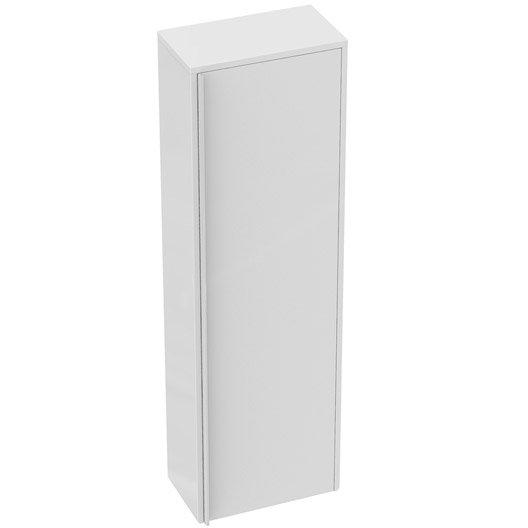 Meuble demi colonne x x cm blanc idealsmart leroy merlin - Colonne dressing 40 cm ...